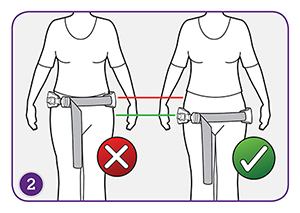 Step 2 - Where should the Ziivaa belt be on my hips?